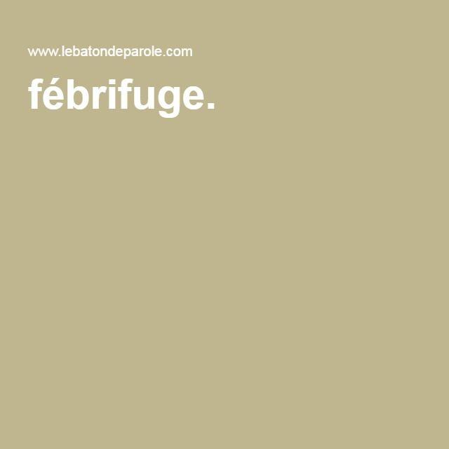 fébrifuge.