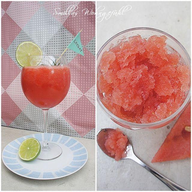 Eiskalter Melonendrink und leckeres Melonensorbet mit Rezept auf www.SmillasWohngefuehl.blogspot.com
