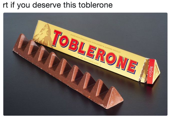♥ Big Toblerone | Know Your Meme    Big Toblerone refers to references and jokes based on a scene from the Netflix anime series Neo Yokio, in which the protagonist, Kaz Kaan, courts a woman by gifting her an oversized Toblerone candy bar.    Read more at KnowYourMeme.com.