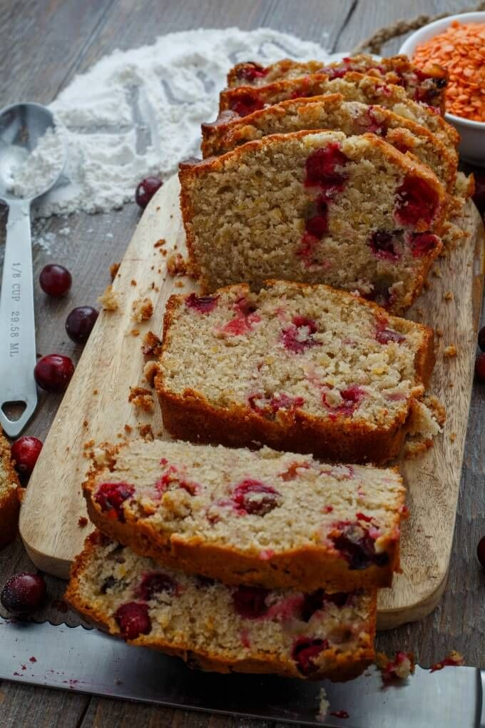 Cranberry Lentil Bread |http://thecookiewriter.com | #ad #bread #lentils #Christmas #gift #cranberries
