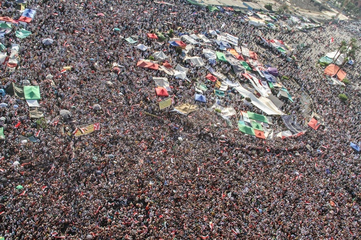 Tahrir Square after Mohamed Morsi was declared the official winner of Egypt's presidential runoff.  (Al Jazeera/Mosa'ab Elshamy)