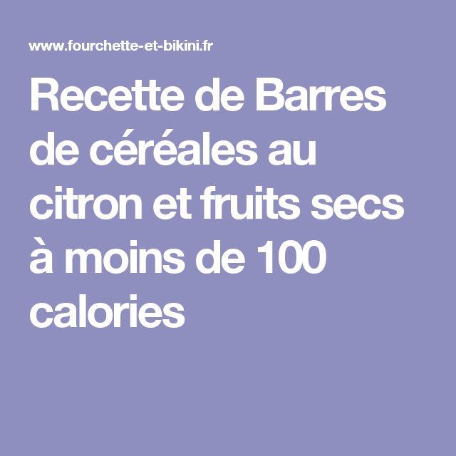 Recette de Barres de céréales au citron et fruits secs à moins de 100 calories