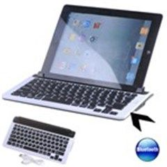 Wireless Bluetooth Keyboard Stand Holder with 9.7  Slot for iPad 2 / iPad 3 / Samsung Galaxy Tab All Tablets