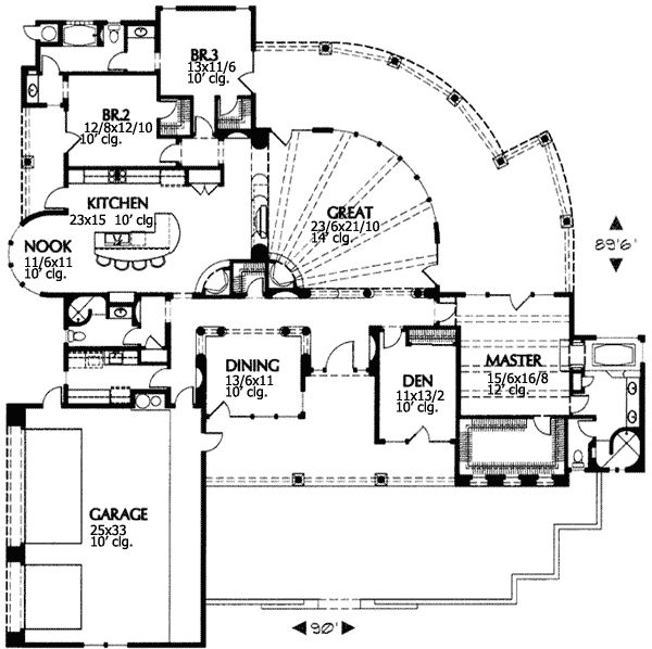 plan 16343md desert beauty - South West Adobe Home Plans