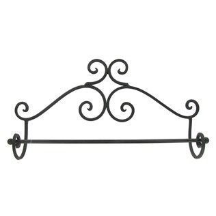 Black Brown Wall Towel Rack   Shop Hobby Lobby $10.99 Use with S shower hooks for hanging necklaces