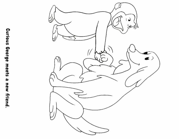 curious george printable coloring book page for kids - Curious George Coloring Books
