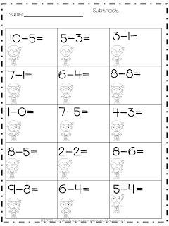 1000 ideas about subtraction kindergarten on pinterest kindergarten worksheets math problem. Black Bedroom Furniture Sets. Home Design Ideas