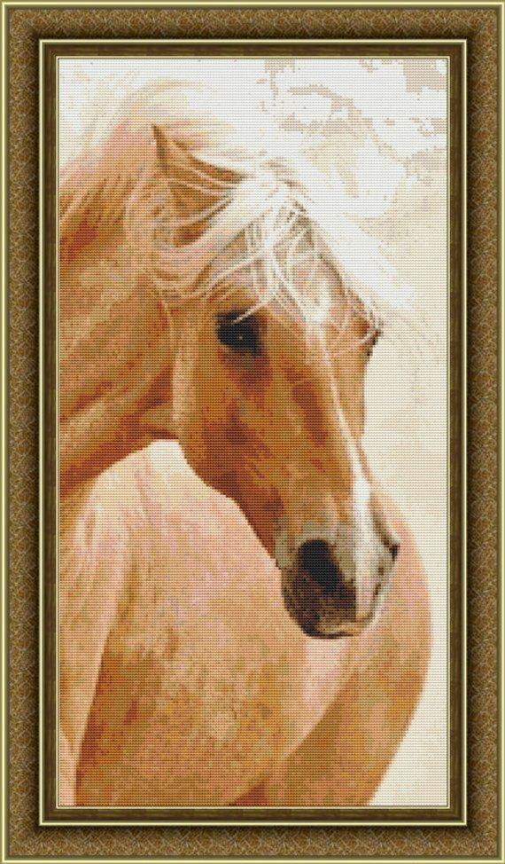 Beautiful Horse Counted Cross Stitch Pattern in PDF for Instant