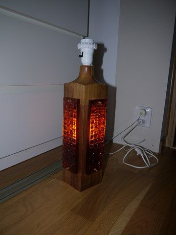 SALE - Teak - Orange Glass - Swedish design - 50s - RETRO - on Etsy, £24.97