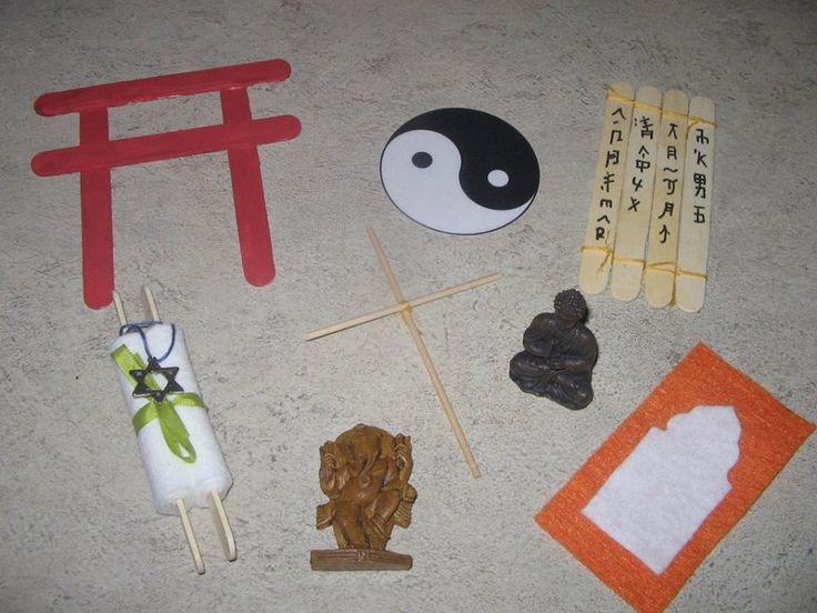 Asie - náboženství - symboly