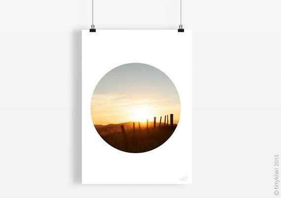 Sunrise art print, Instant download, Home decor, Circle art, Modern decor, Art printable, New Zealand art, Art print set, Themed art sets