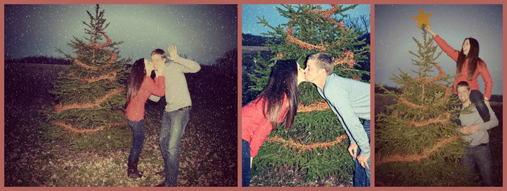 Christmas Card Picture Ideas. Ellie putting star on the tree?