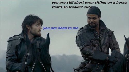 The Musketeers - Athos/Porthos humour