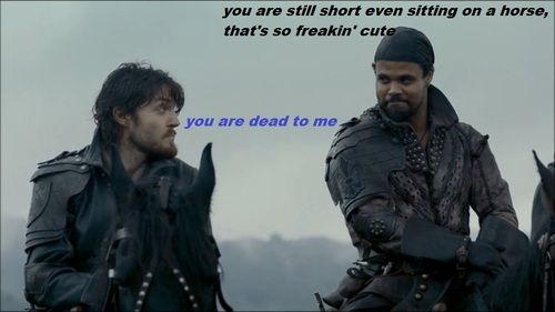 The Musketeers - Athos/Porthos humour