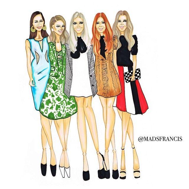 @Paola Maria Gonzalez Jimenez @Helena Bordon @lalatrussardirudge @marinaruybarbosa @annarfasano at #mksaopaulo @Michael Kors #fashion #illustration#style #chic #mode