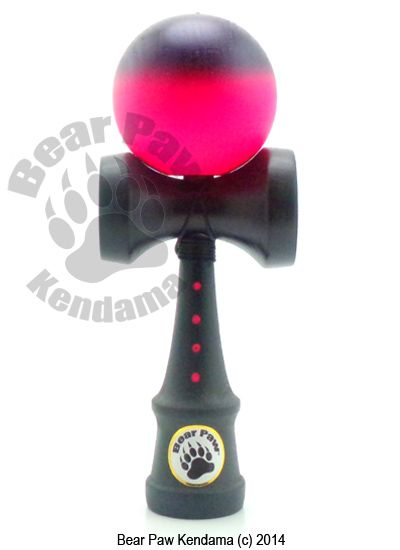 The Black Raspberry Deluxe is an all time favorite.The black ken has pink dots on it, the cups are black and the tama is pink with a black mist at the top, which helps you recognize top from bottom when doing tricks.Features a black Silkies String.Select between Ultra Tac or Gloss Clear Coat.Chip Resistant Kendama
