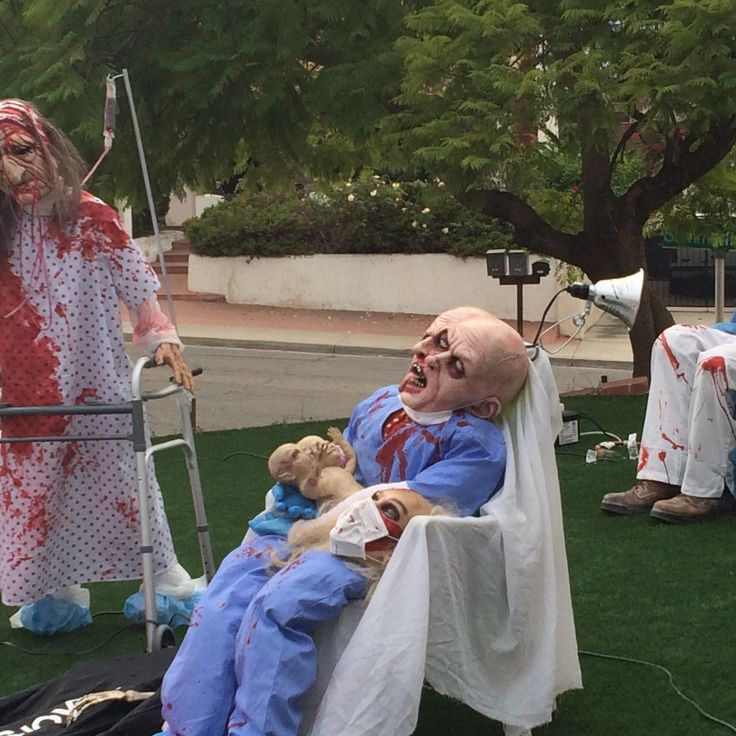 How to halloween yard haunting decorations and home made props - 17 Best Images About Halloween Hospital Idea S On