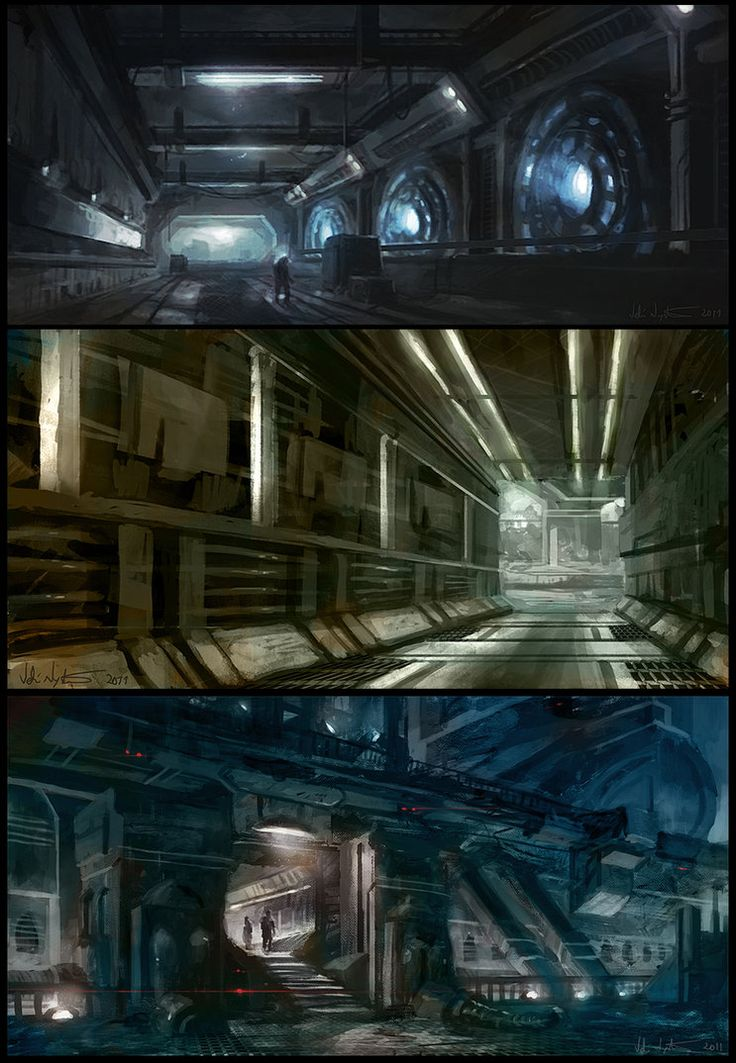 Spaceship Interiors pt. 1 by Vablo on deviantART