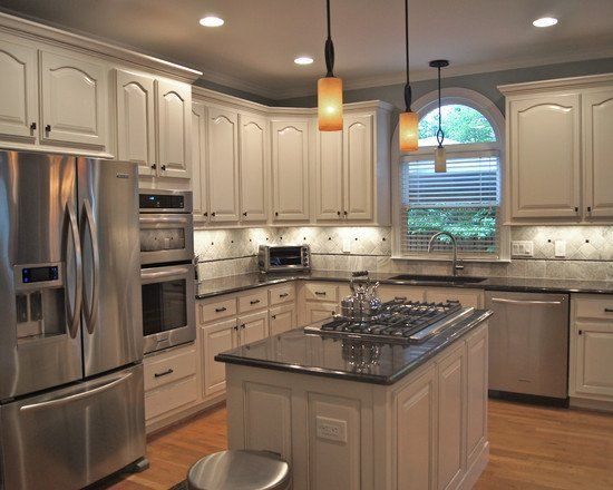 Creative kitchen beautiful homes design oak cathedral for Cheap kitchen cabinets sets