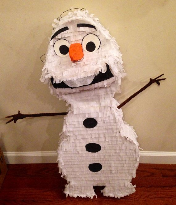 Olaf Snowman Disney Frozen Custom Piñata (Save 10% with code NEWYEAR10) on Etsy, $33.00