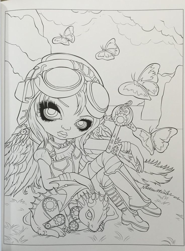 Amazon Jasmine Becket Griffith Coloring Book A