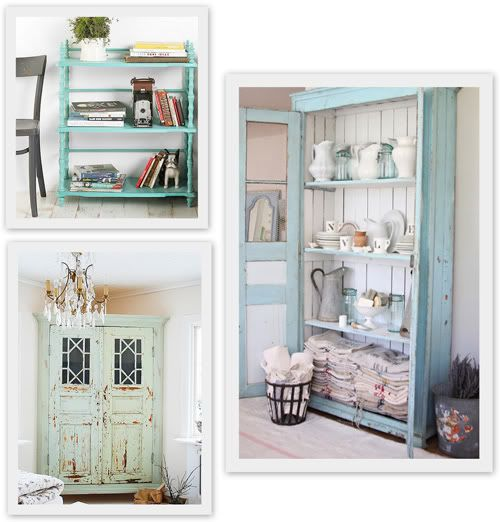 chippy blue loveCottages Style, Beach Furniture, Cabinets Colors, Painting Furniture, Shabby Chic, Distressed Furniture, Rustic Style, Robin Eggs Blue, Little Cottages