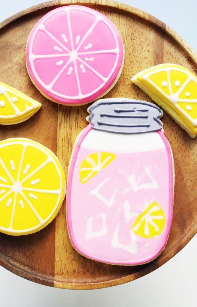 Pink Lemonade decorated sugar cookies, so fun for summer!