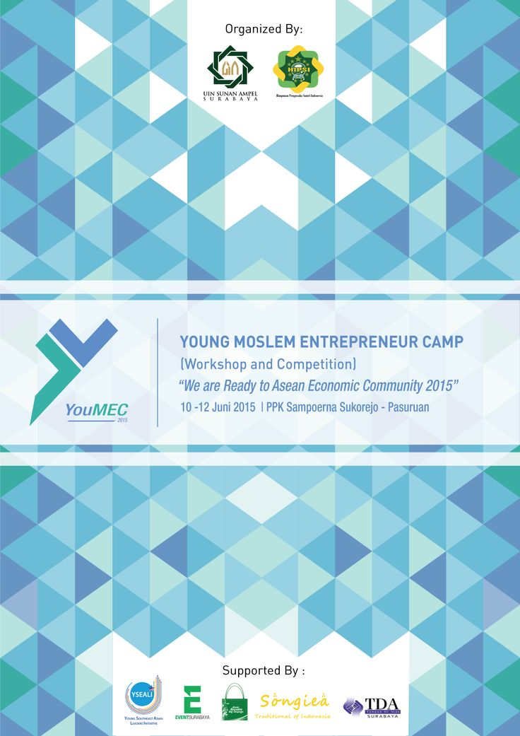 """Desain Cover Blocknote Event """"YouMEC - Young Moslem Entrepreneur Camp"""" Program Studi Ilmu Komunikasi - UIN Sunan Ampel Surabaya.."""