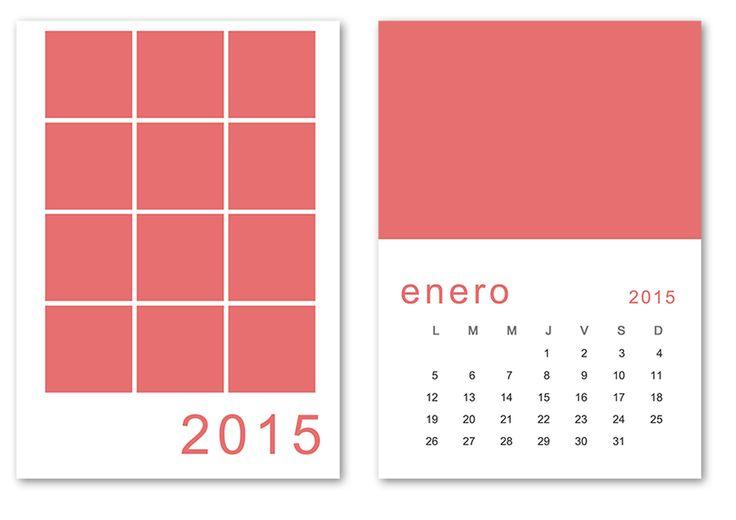 Una plantilla PSD del calendario 2015 listo para editar e imprimir en a5 #calendar #freebies
