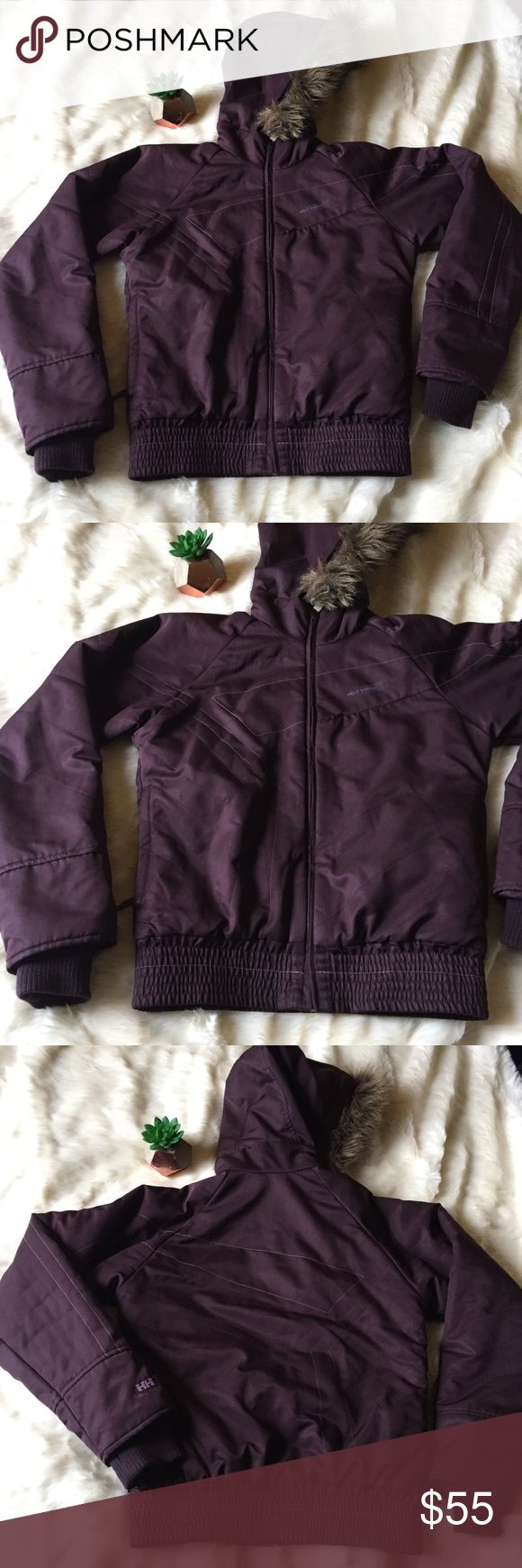 Helly Hansen Purple Jacket Helly Hansen purple jacket. Removable hood, size XS, excellent used condition Helly Hansen Jackets & Coats Puffers