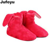 <January's Offer! Click Image to Buy!> JUFOYU kids New Indoor Home Slippers Flannel Shoes Plush Home Slippers children Wooden Floor Slippers For Girls Candy Shoes  ~ Just click the image to find out more on  AliExpress.com