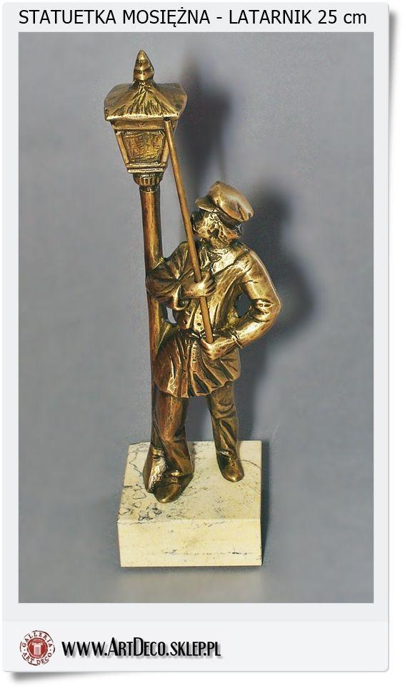 Latarnik  - statuetka mosiężna Handmade