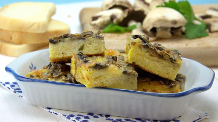 Torta de cogumelos e queijo #schaer