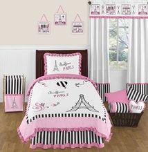 Paris 4pc Childrens and Kids Twin Bedding Set by Sweet Jojo Designs