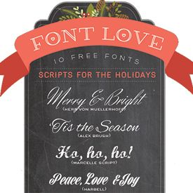 My list of 10 favorite freebie font in script for Christmas or holiday projects.