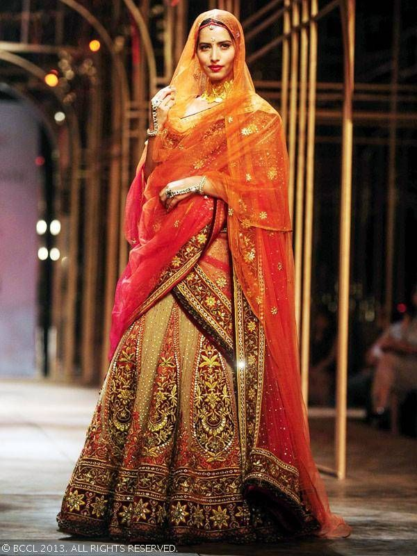Lengha by Tarun Tahiliani at India Bridal Fashion Week '13 #TarunTahiliani #fashion #style #India