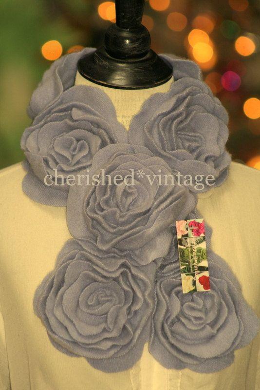 PeTiTE sciarpa di cachemire color lavanda di cherishedvintage
