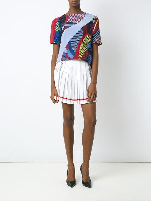 Versace color block print T-shirt