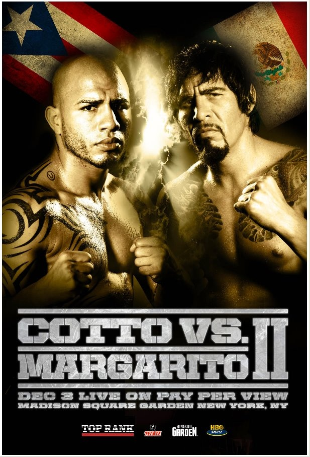 boxing miguel cotto vs antonio margarito ii poster