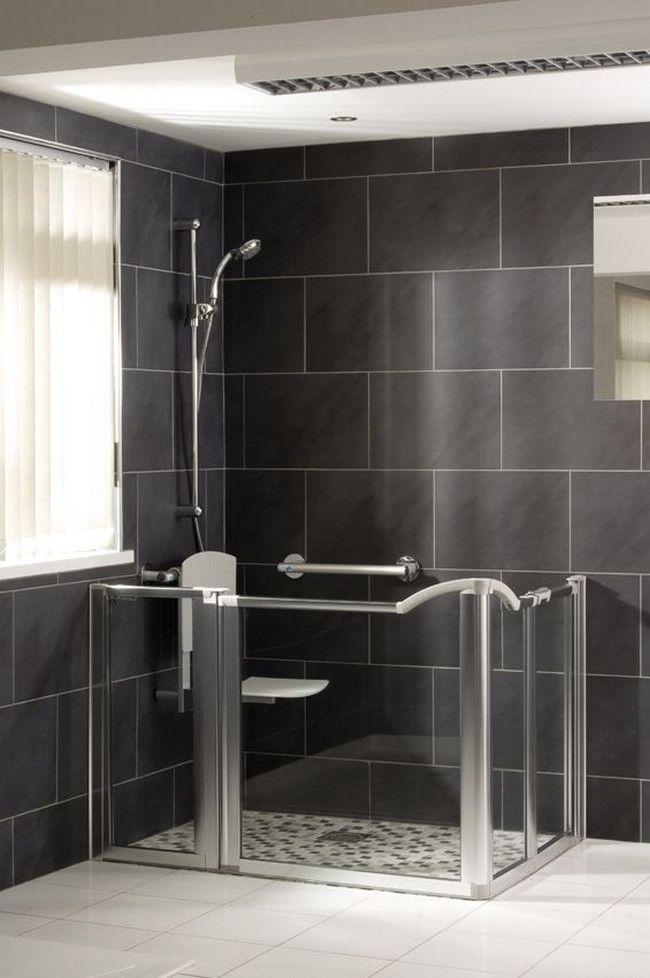 Walk In Showers For Elderly In 2020 Bathroom Decor Bathroom Design Handicap Shower Stalls