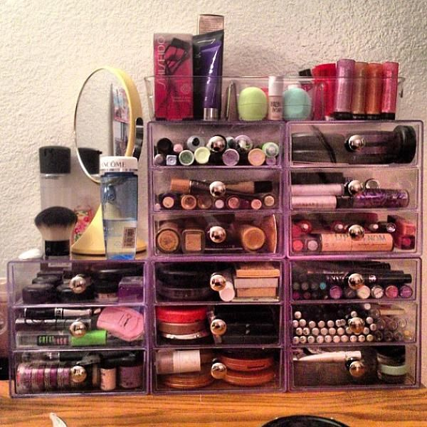Best MAKEUP STORAGE Images On Pinterest Makeup Storage - Container store makeup organizer