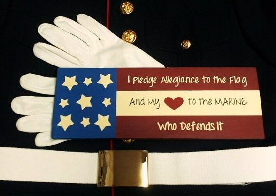 Wood Sign I Pledge Allegiance to the Flag and by HandmadeByLeeAnn, $14.99