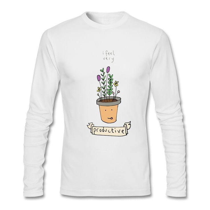 ==> [Free Shipping] Buy Best Pretty Man Crew-Neck Tee Shirts Feeling Like A Plant Men Cotton Full Sleeves Tops cheap t shirts Online with LOWEST Price | 32757400366
