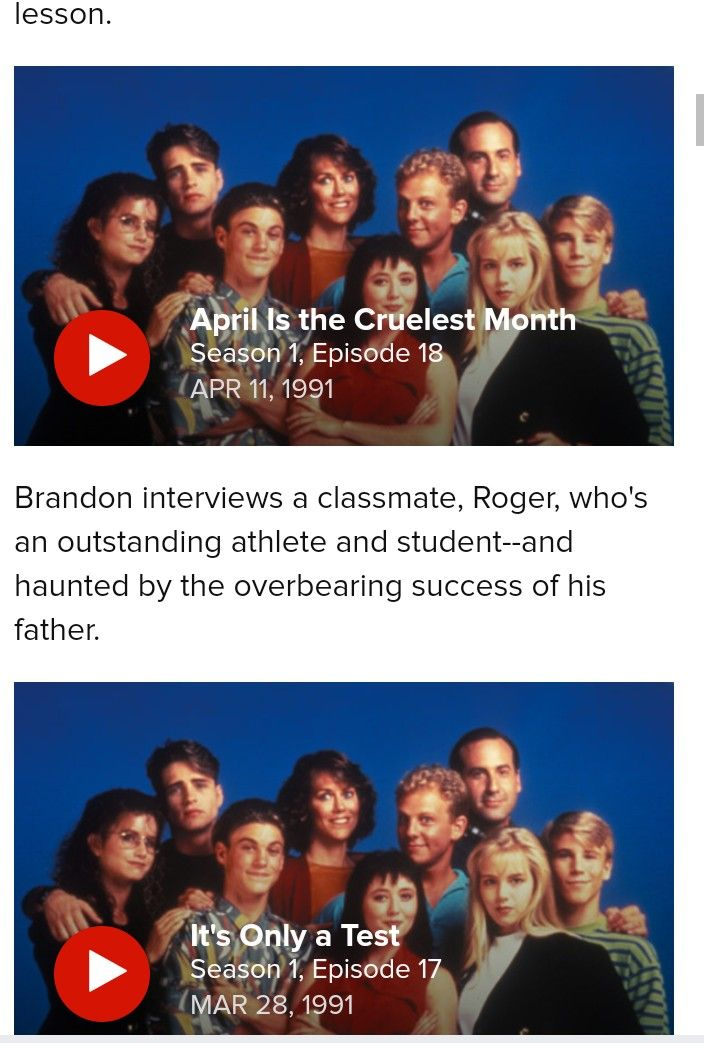 The Cruelest Month Image By Hoff On Beverly Hills 90210 Beverly