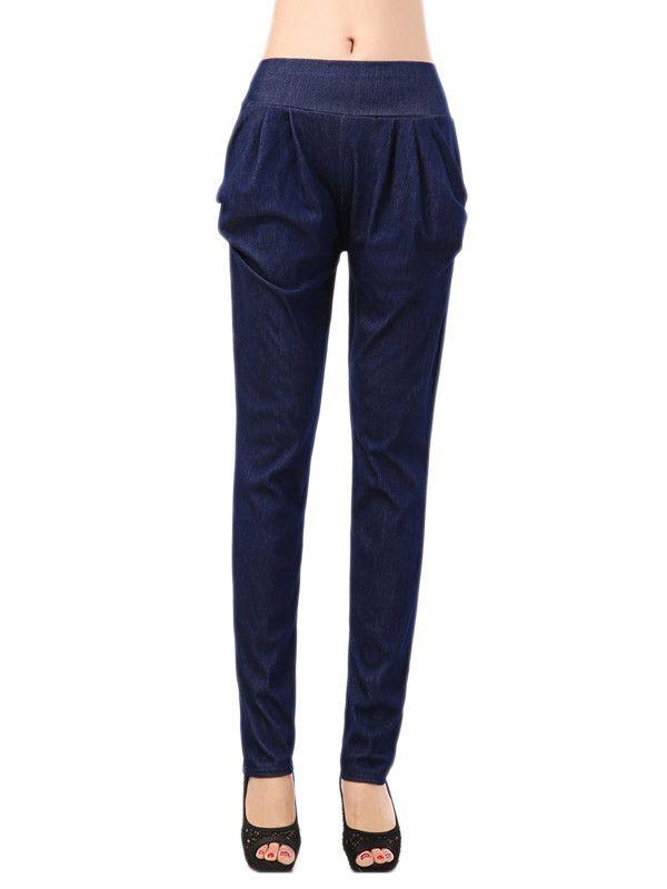Pantalons Et Culotte Navy Pull Sur Full Length Harem Pas Cher www.modebuy.com @Modebuy #Modebuy #CommeMontre #me #Blanc #followforfollow