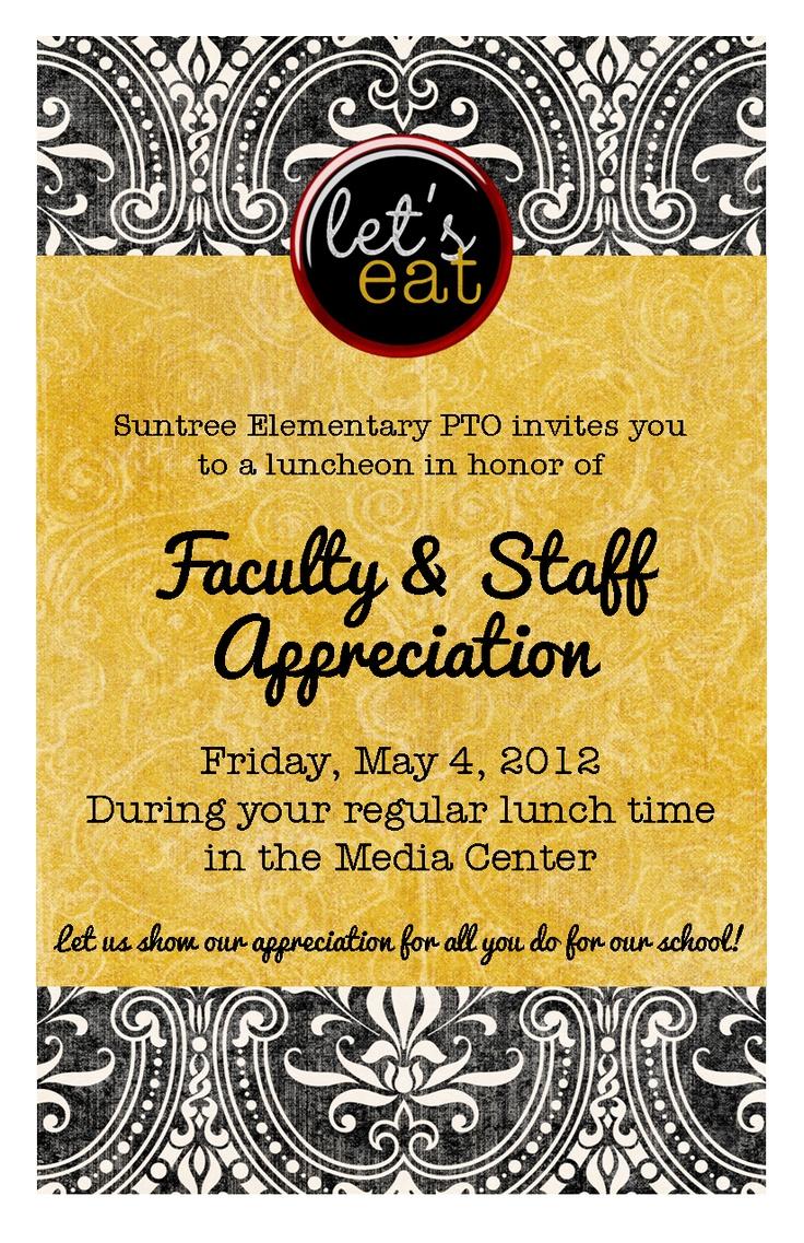 2012 teacher appreciation luncheon invite