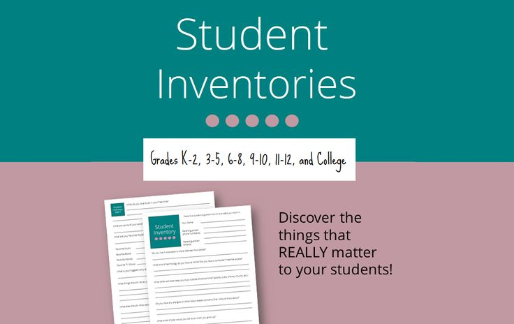 "At the beginning of the school year (or any time) you can get to know your students much better by having them complete a ""get to know you"" form. For this purpose, I have created a collection of Student Inventories—one …"