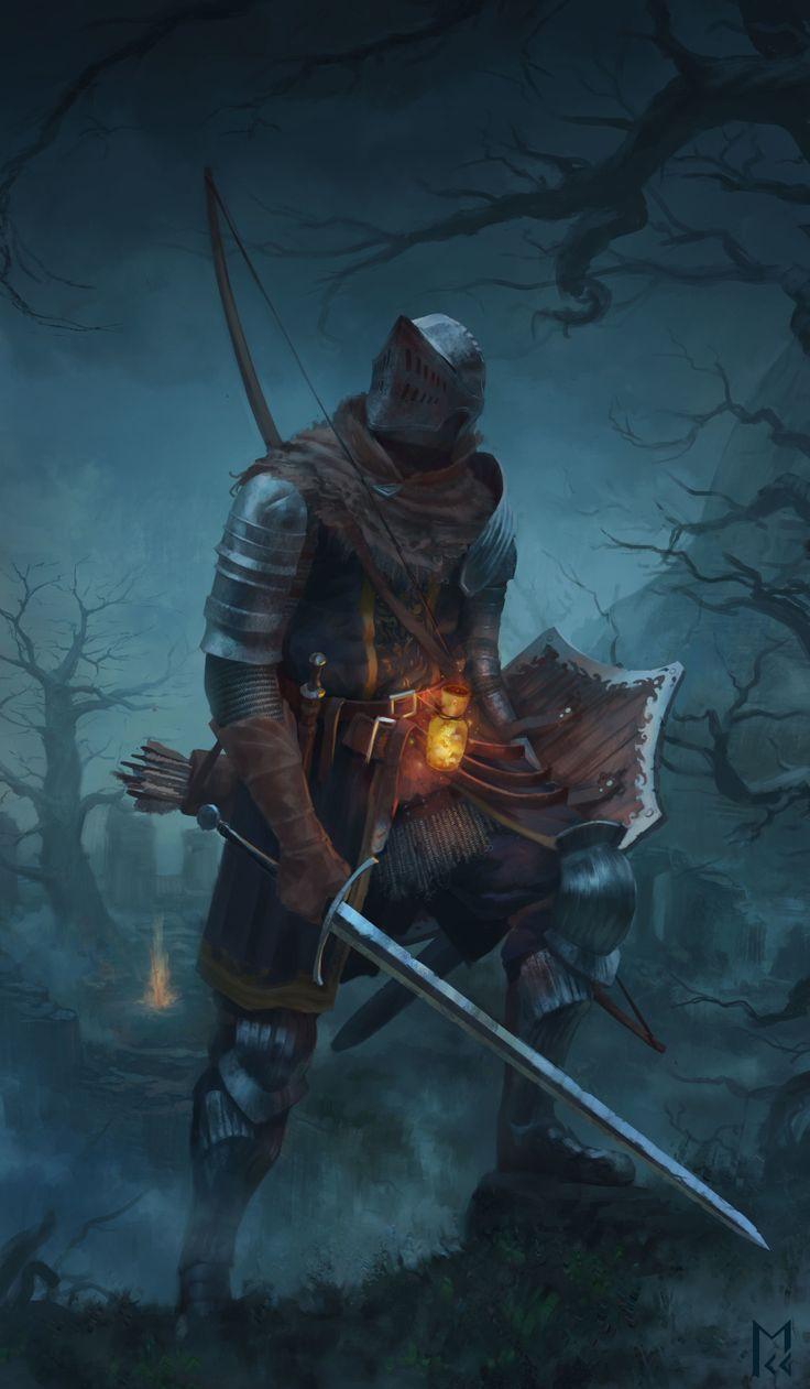 Tribute tothe Dark Souls series by artist Manuel Castañón.
