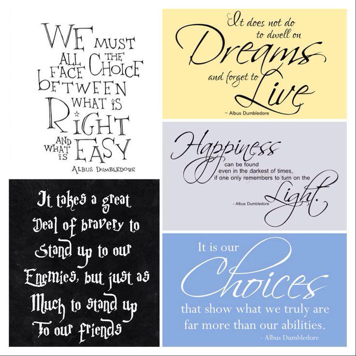 dumbledore quotes Harry Potter Pinterest