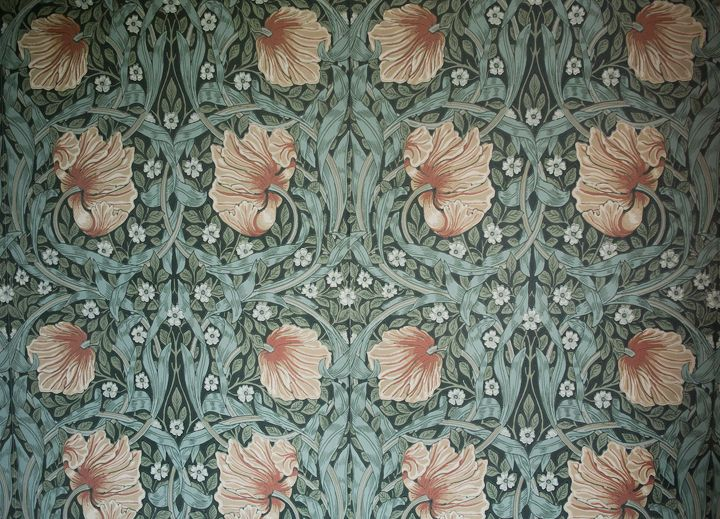 Art nouveau wallpaper framed boards